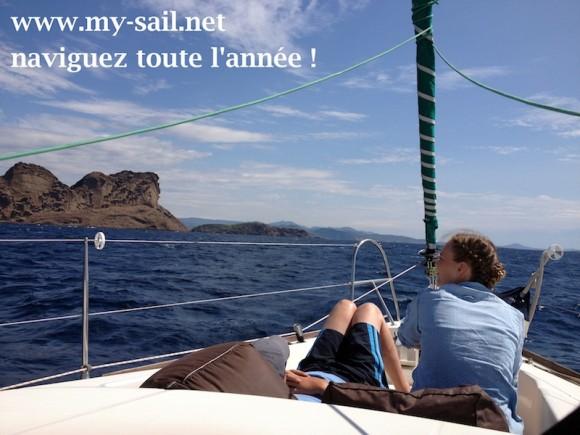 Balade en mer - mini-croisiere en voilier - visite des Calanques, Porquerolles ...