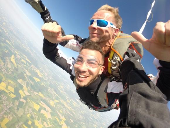 Baptême de saut en parachute en Lorraine