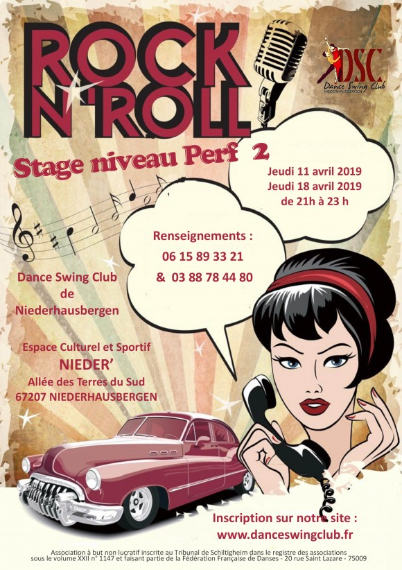STAGE DE ROCK'n'ROLL  PERFECTIONNEMENT 2
