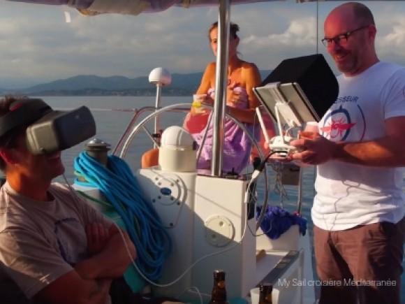 Sea Sail Drone Tour, en voilier