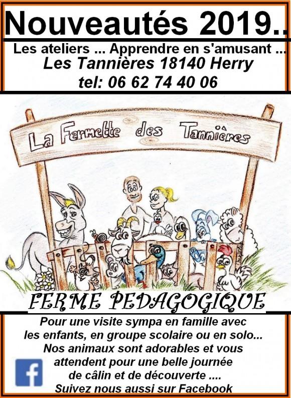 Visitez Ferme pédagogique de la Fermette des Tannières 18140 Herry