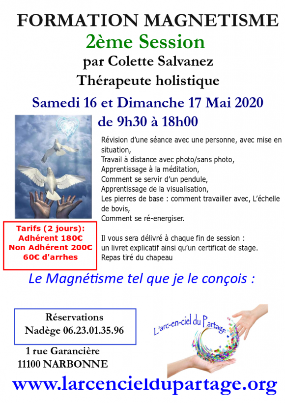 Formation magnetisme session 2 par Colette Salvanez