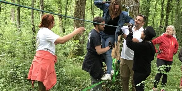 Parcours d'obstacles en forêt - Arc Aventures