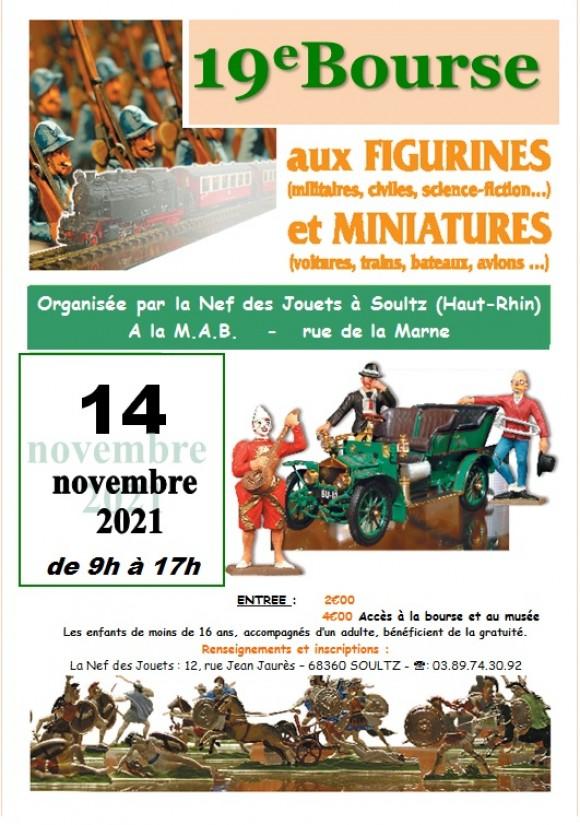 19ème Bourse aux Figurines (militaires, civiles, science-fiction…) et Miniatures (voitures, trains, bateaux, avions…)