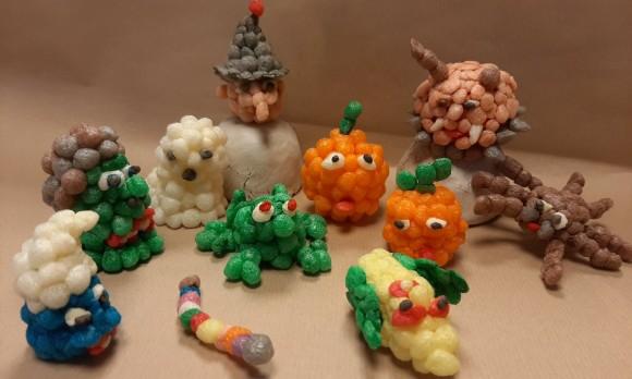 Fabrication d'un sujet « Halloween » en billes de flocons de maïs